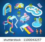 3d pictures of water park... | Shutterstock .eps vector #1100043257