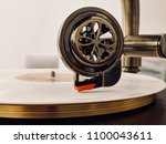 playing the platinum record | Shutterstock . vector #1100043611