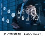 data management system  dms ... | Shutterstock . vector #1100046194