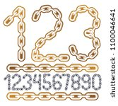 modern vector digits numerals...   Shutterstock .eps vector #1100046641