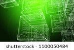 an ultramodern 3d illustration... | Shutterstock . vector #1100050484