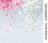 summer wind   luxurious white... | Shutterstock .eps vector #1100065181
