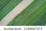 aerial landscape   spring fields | Shutterstock . vector #1100067371
