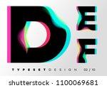 vector typeset design. neon... | Shutterstock .eps vector #1100069681