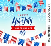 4th of july  independence day   ... | Shutterstock .eps vector #1100070284