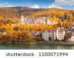 the ruin of heidelberg castle...   Shutterstock . vector #1100071994