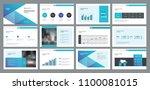 business presentation template... | Shutterstock .eps vector #1100081015