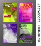 vector brochure flyer design... | Shutterstock .eps vector #1100091317