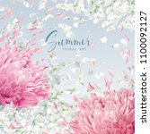 summer wind   luxurious white... | Shutterstock .eps vector #1100092127