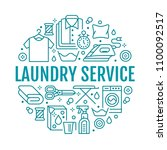 dry cleaning  banner... | Shutterstock .eps vector #1100092517