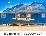 ushuaia  tierra del fuego  ... | Shutterstock . vector #1100094107