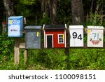 Colorful Mailboxes In The...