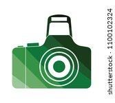 icon of photo camera. flat...