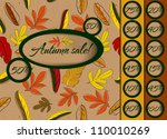 autumn sale poster with... | Shutterstock .eps vector #110010269