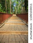 walkway into the temple in the... | Shutterstock . vector #1100103011