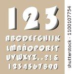 high quality modern alphabet...   Shutterstock .eps vector #1100107754