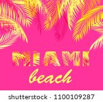 miami lettering for t shirt... | Shutterstock .eps vector #1100109287