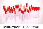 cigarette show heart rate... | Shutterstock . vector #1100116901