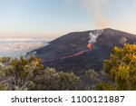 "eruption of the vulcano ""piton... 