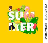 word summer composition with... | Shutterstock .eps vector #1100126165