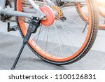 the outline of a bicycle | Shutterstock . vector #1100126831