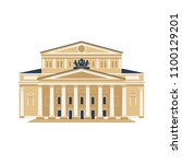 moscow city symbol. bolshoy... | Shutterstock .eps vector #1100129201