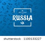 welcome to russia  horizontal... | Shutterstock .eps vector #1100133227