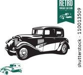 vintage car. retro car. classic ... | Shutterstock .eps vector #110013509