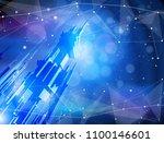 futuristic smart metropolis... | Shutterstock .eps vector #1100146601