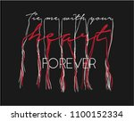 love slogan with tassel text | Shutterstock .eps vector #1100152334