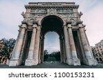 arch of triumph  genoa   Shutterstock . vector #1100153231