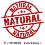 natural round red grunge stamp | Shutterstock .eps vector #1100156327