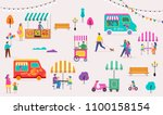 summer fest  food street fair ... | Shutterstock .eps vector #1100158154