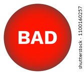 bad round button. red. vector...