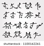 soccer players in action ... | Shutterstock .eps vector #1100162261