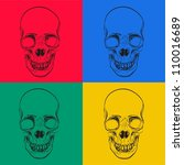 seamless scull background   Shutterstock .eps vector #110016689