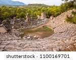 stone amphitheater in ancient... | Shutterstock . vector #1100169701