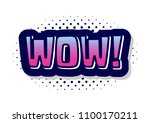 sound speach effect bubble with ... | Shutterstock .eps vector #1100170211
