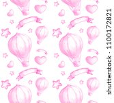 seamless background with pink... | Shutterstock . vector #1100172821