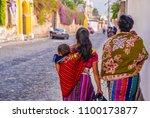 senior woman in ethnic... | Shutterstock . vector #1100173877