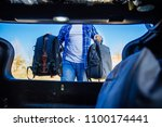 view from inside of trunk.... | Shutterstock . vector #1100174441
