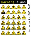 warning signs | Shutterstock . vector #110017469