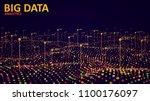 big data visualization.... | Shutterstock .eps vector #1100176097