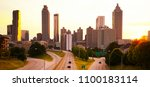 atlanta skyline at sunset ... | Shutterstock . vector #1100183114