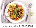 ratatouille  vegetable stew   Shutterstock . vector #1100185001