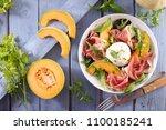 melon  mozzarella and...   Shutterstock . vector #1100185241