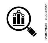 analytics icon. vector... | Shutterstock .eps vector #1100186054