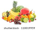 a variety of different fruit... | Shutterstock . vector #110019959