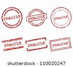 fragile stamps | Shutterstock .eps vector #110020247