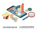 business  finance and... | Shutterstock .eps vector #1100202905